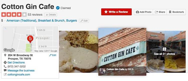 Cotton Gin Cafe on Yelp