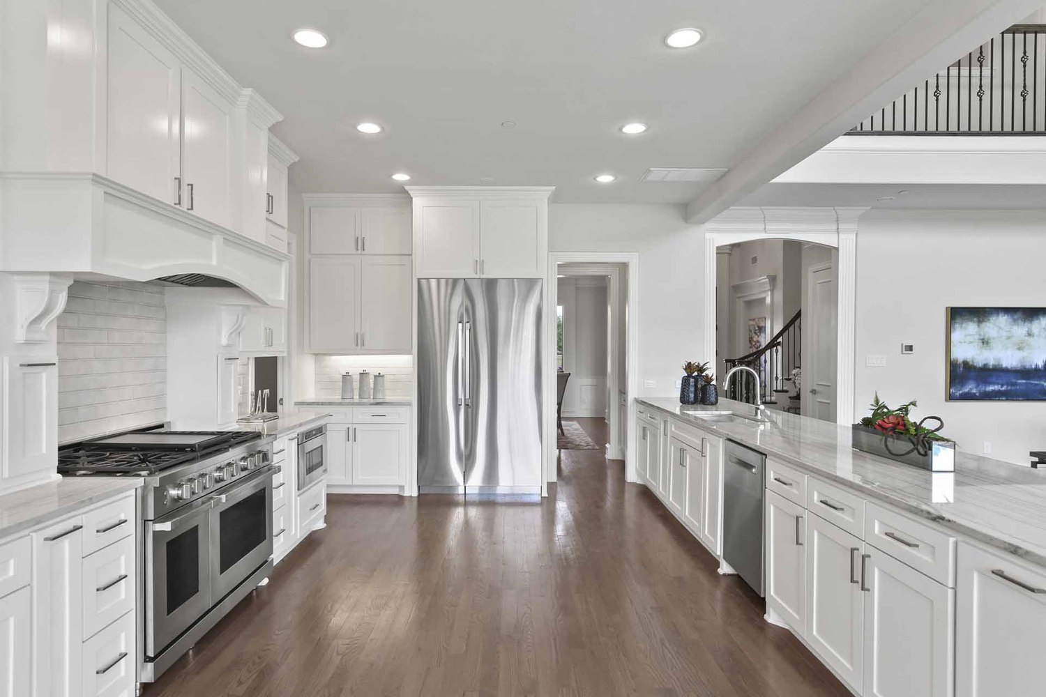The kitchen to an Amberwood Farm home