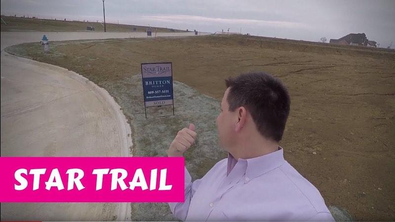 Building a Britton home in Star Trail Prosper Dirt