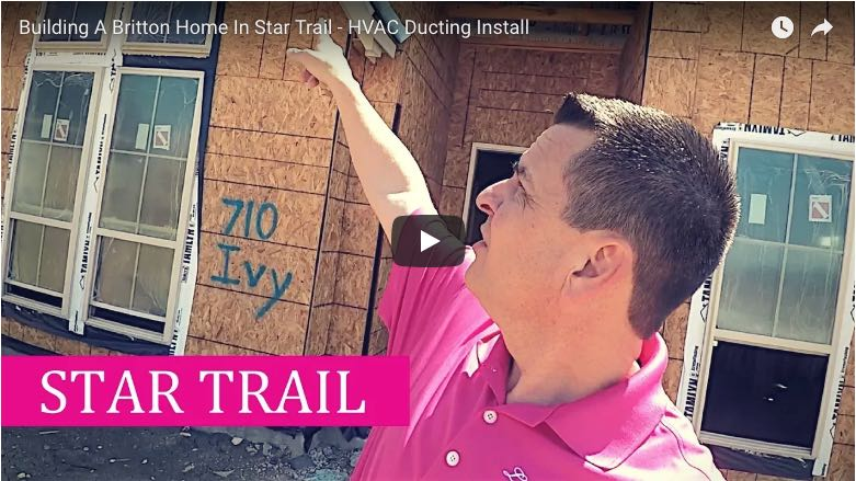 Building a Britton home in Star Trail Prosper HVAC Ducting