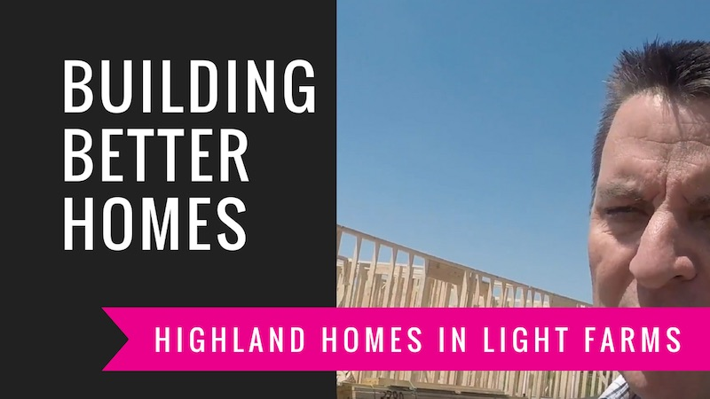 Building A Highland Home in Light Farms | Framing Again