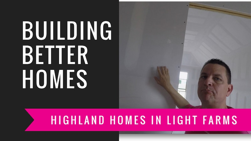 building a highland home drywall floating