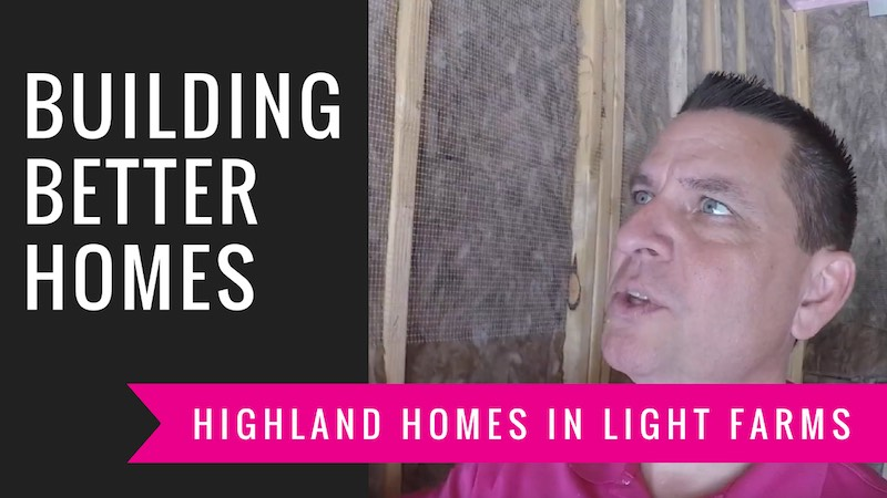 Building a Highland home at Light Farms in Celina Tx Insulation