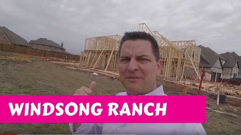 Building a Darling home at Windsong Ranch in Prosper Tx Framing