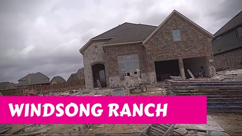 Building a Darling home at Windsong Ranch in Prosper Tx Masonry