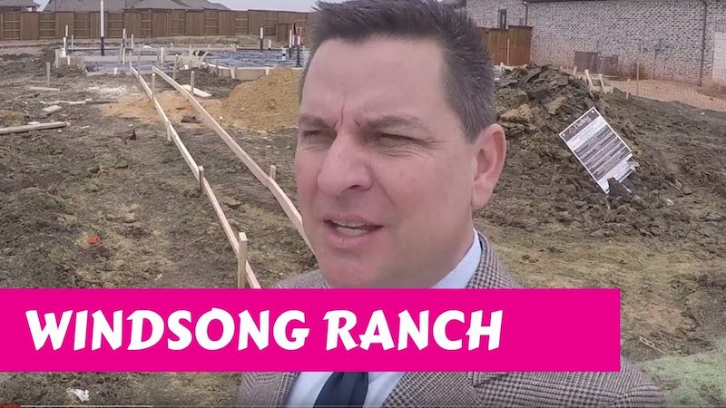 Building a Darling home at Windsong Ranch in Prosper Tx Pre-Concrete