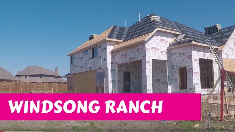 Building a Darling home at Windsong Ranch in Prosper Tx Pre-Wall