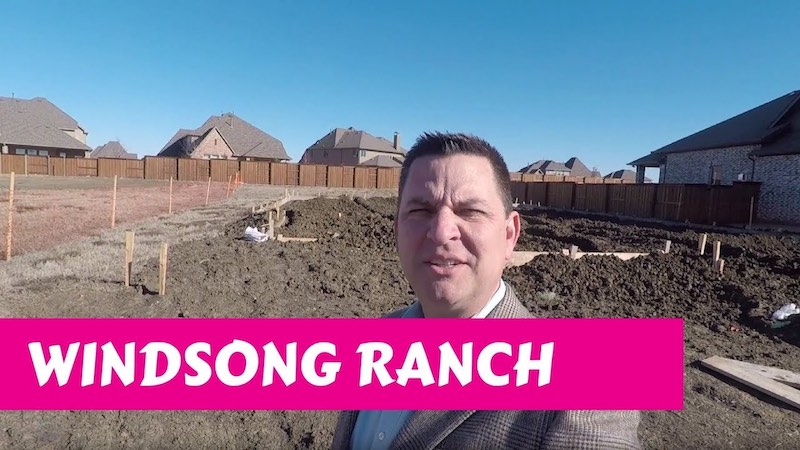Building a Darling home at Windsong Ranch in Prosper Tx Preperation
