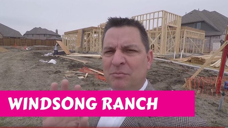 Building a Darling home at Windsong Ranch in Prosper Tx Starting To Frame