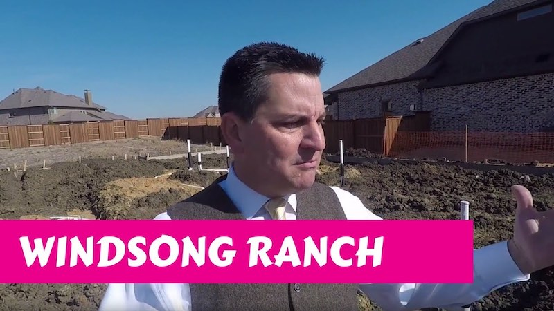 Building a Darling home at Windsong Ranch in Prosper Tx Trenching