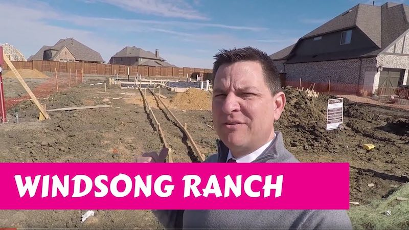 Building a Darling home at Windsong Ranch in Prosper Tx Waiting on Cement