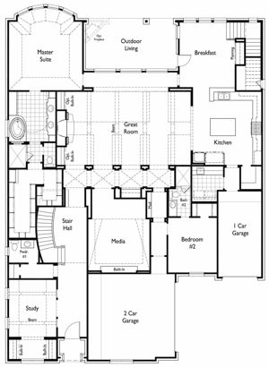 Huntington Model Home in Whitley Place First Floor Floorplan