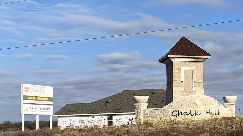 Entrance to Chalk Hill Neighborhood in Celina Texas