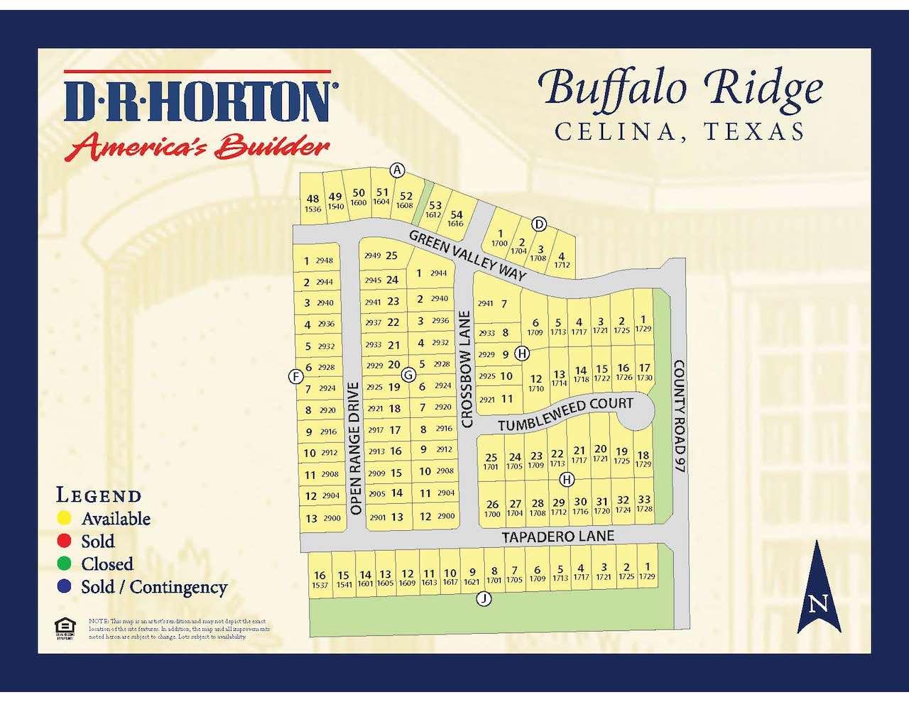 The plat map of buffalo ridge