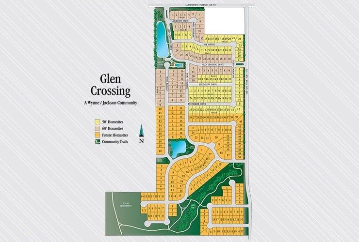 Glen Crossing in Celina Tx Plat