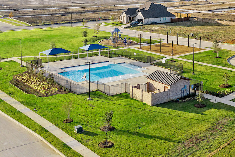 The swimming pool in greenway in celina tx