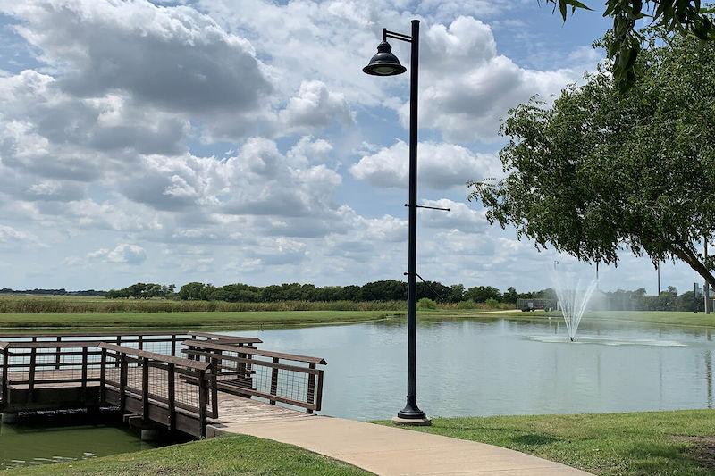 The lake at Greenway in celina tx