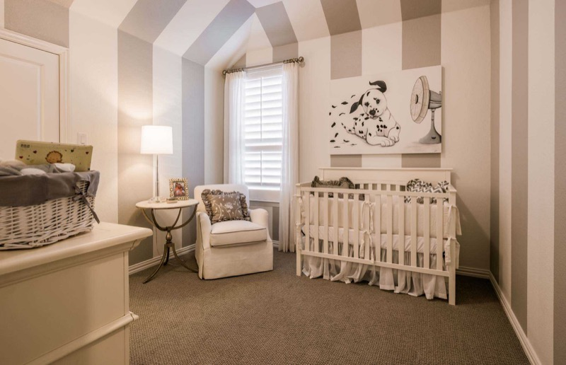 The nursery in the Highland Homes model in Light Farms
