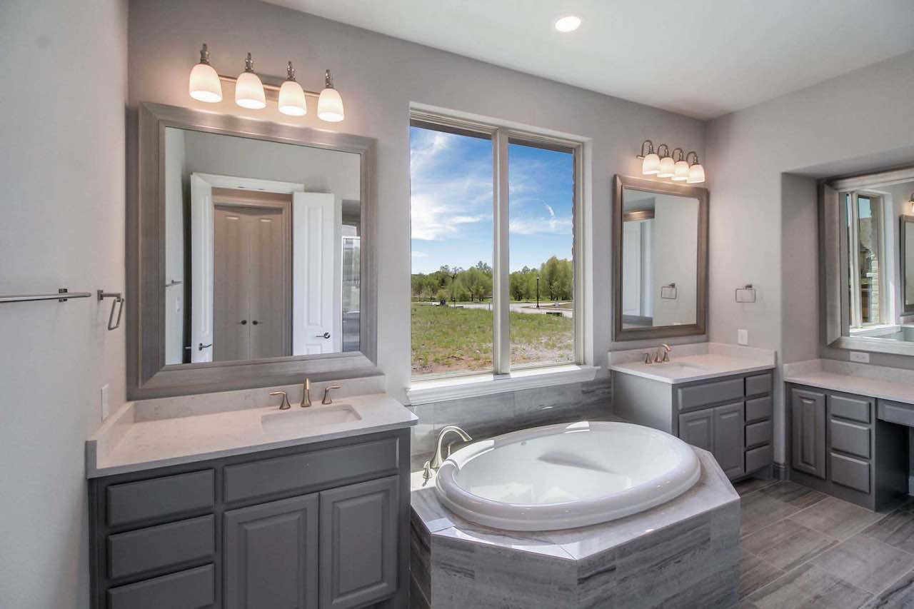 Mustang lakes highland spec home for sale master bath