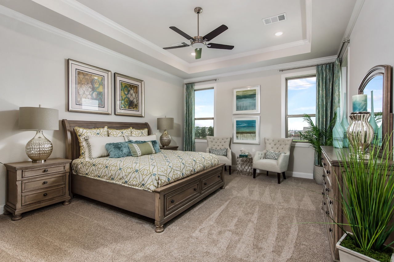 our country homes - falls of prosper - bedroom
