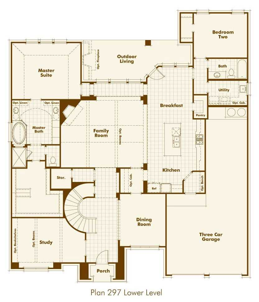 Highland Homes Floorplan Downstairs In Parkside