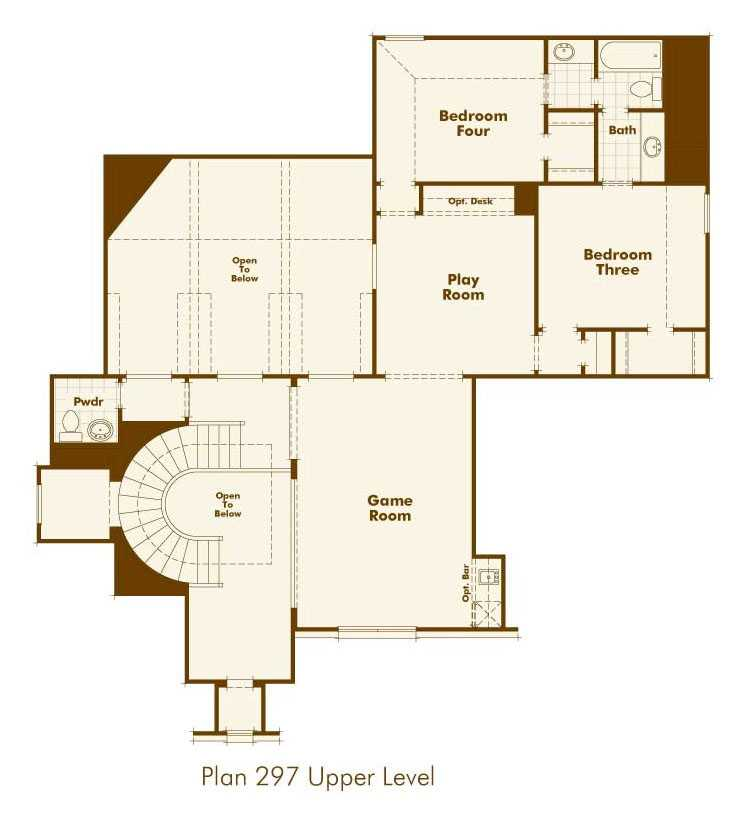 Highland Homes Floorplan UpStairs In Parkside