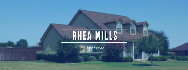 Rhea Mills Estates in Prosper Homes For Sale
