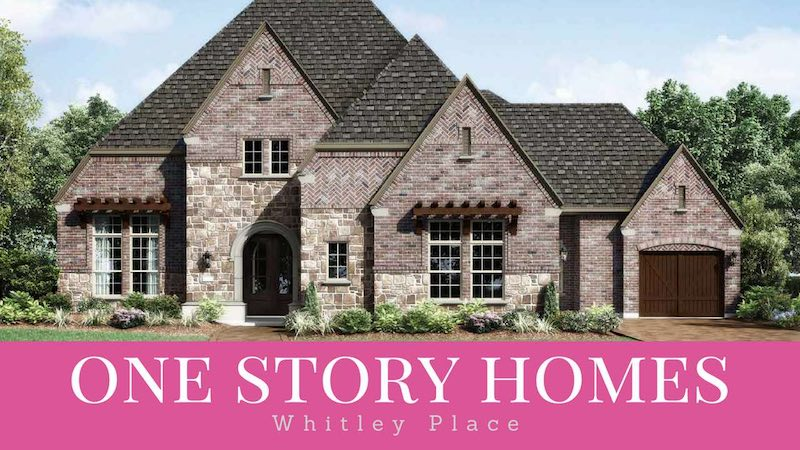 single story homes in whitley place for sale