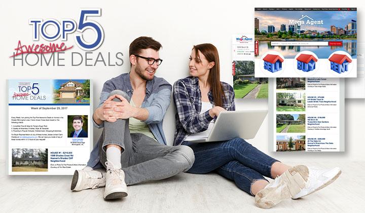 Mega Agent Real Estate Team Weekly Top 5 Home Deals