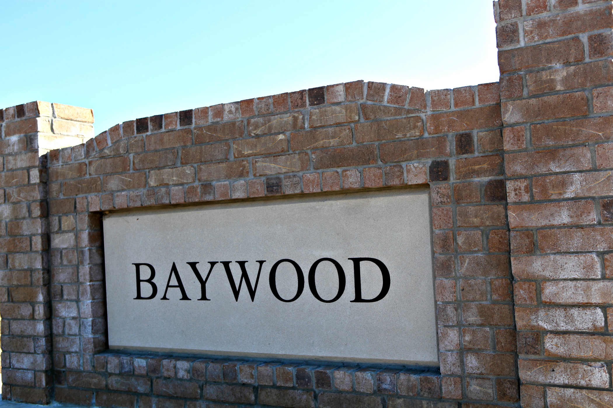 Baywood subdivision in Greenbrier entrance