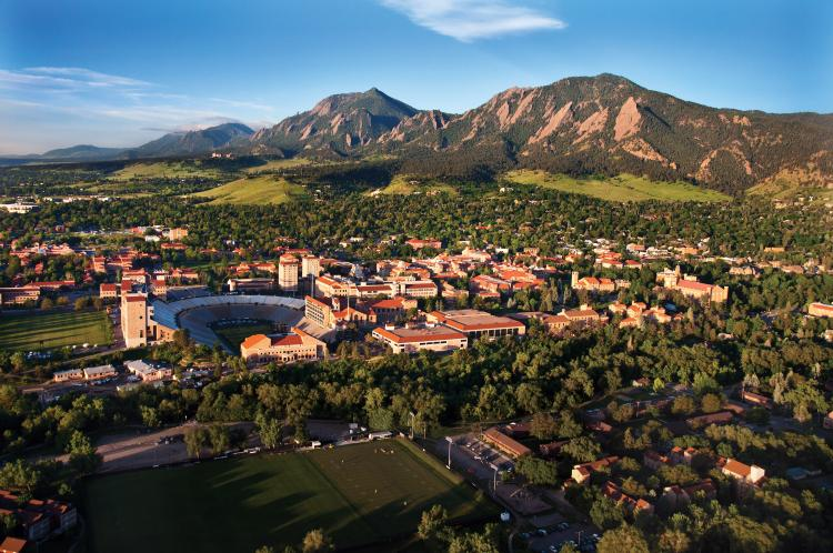 View of Boulder Colorado