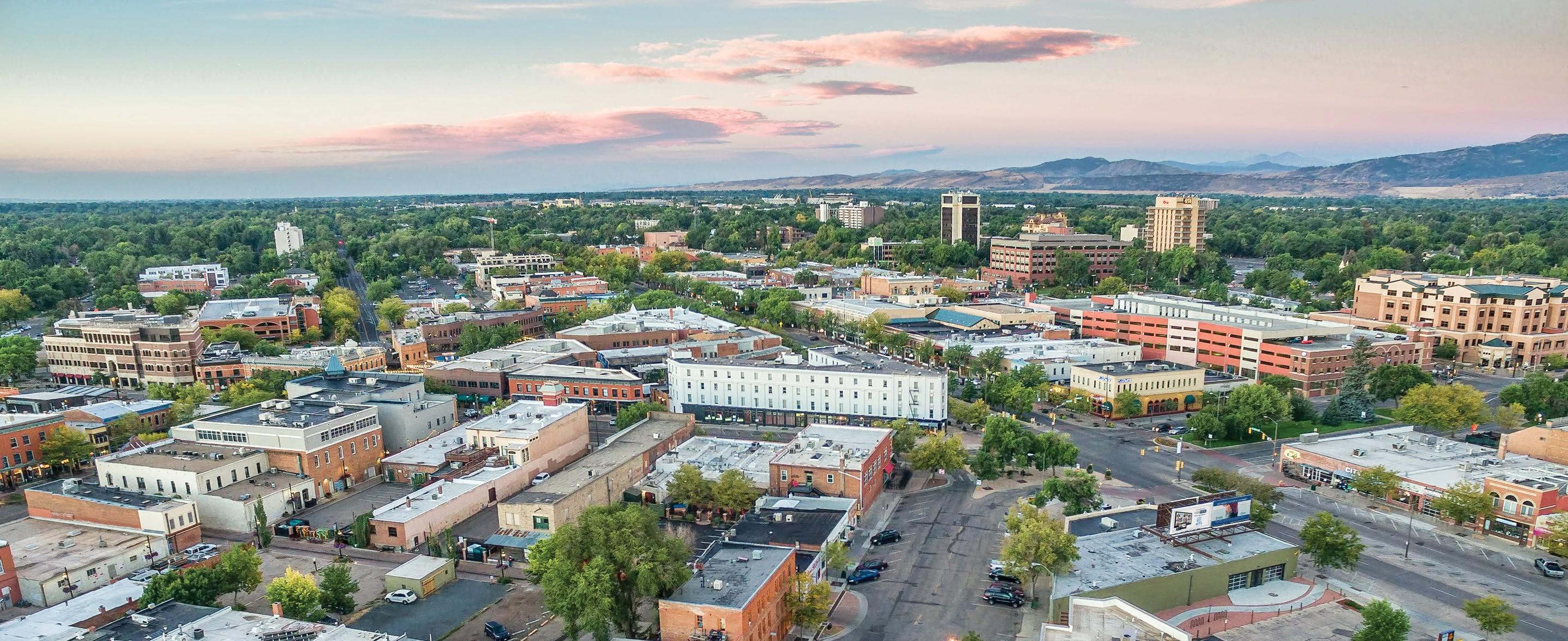 Fort Collins aerial shot