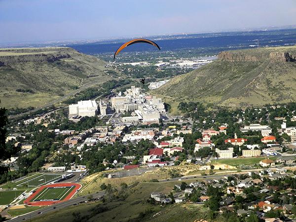 View of Golden Colorado