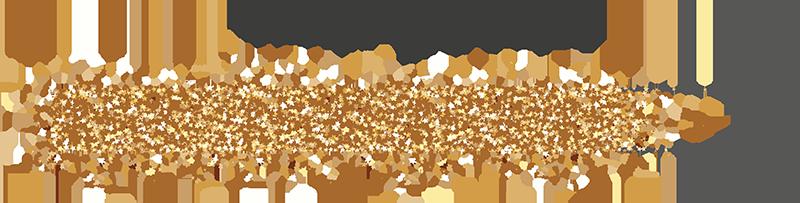 Gold glitter progress bar for 2019 year
