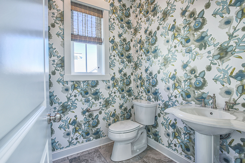 2020 Design Trend Bold Print Bathroom In Living Dunes