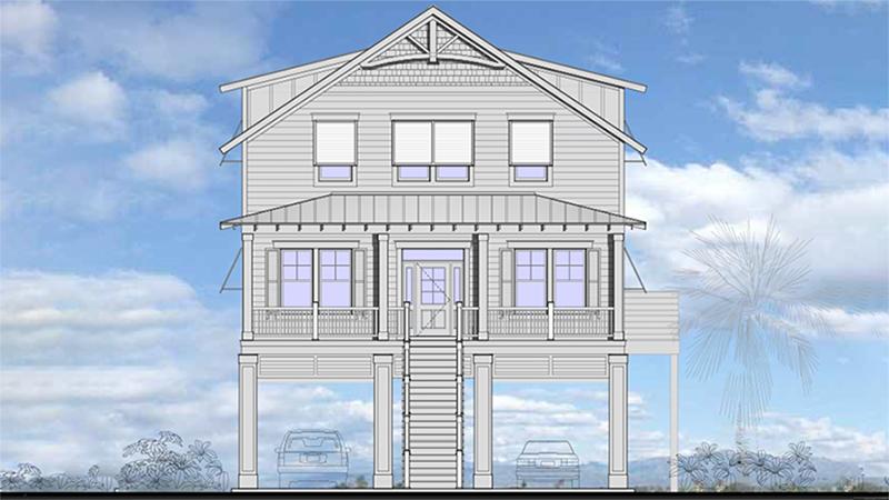 rendering of bodmer residence in garden city