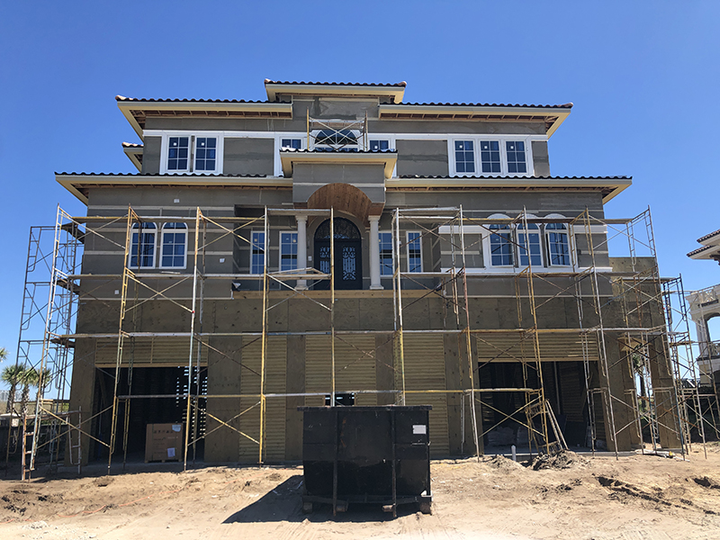CRG custom home currently under construction in The Dunes Club