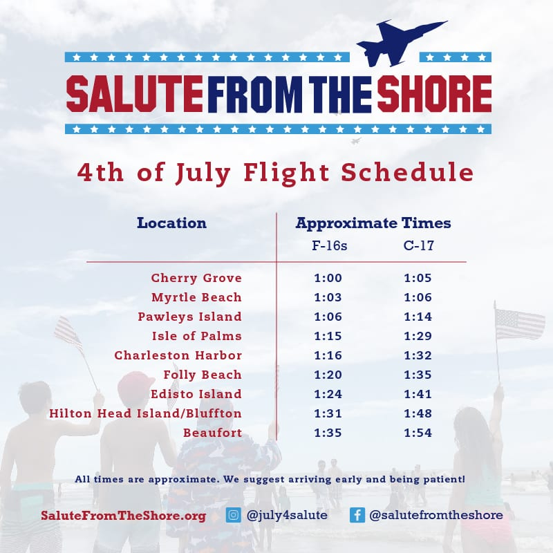 2020 Salute From The Shores Flight Schedule