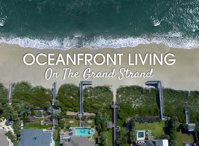 Oceanfront living aerial beach vioew