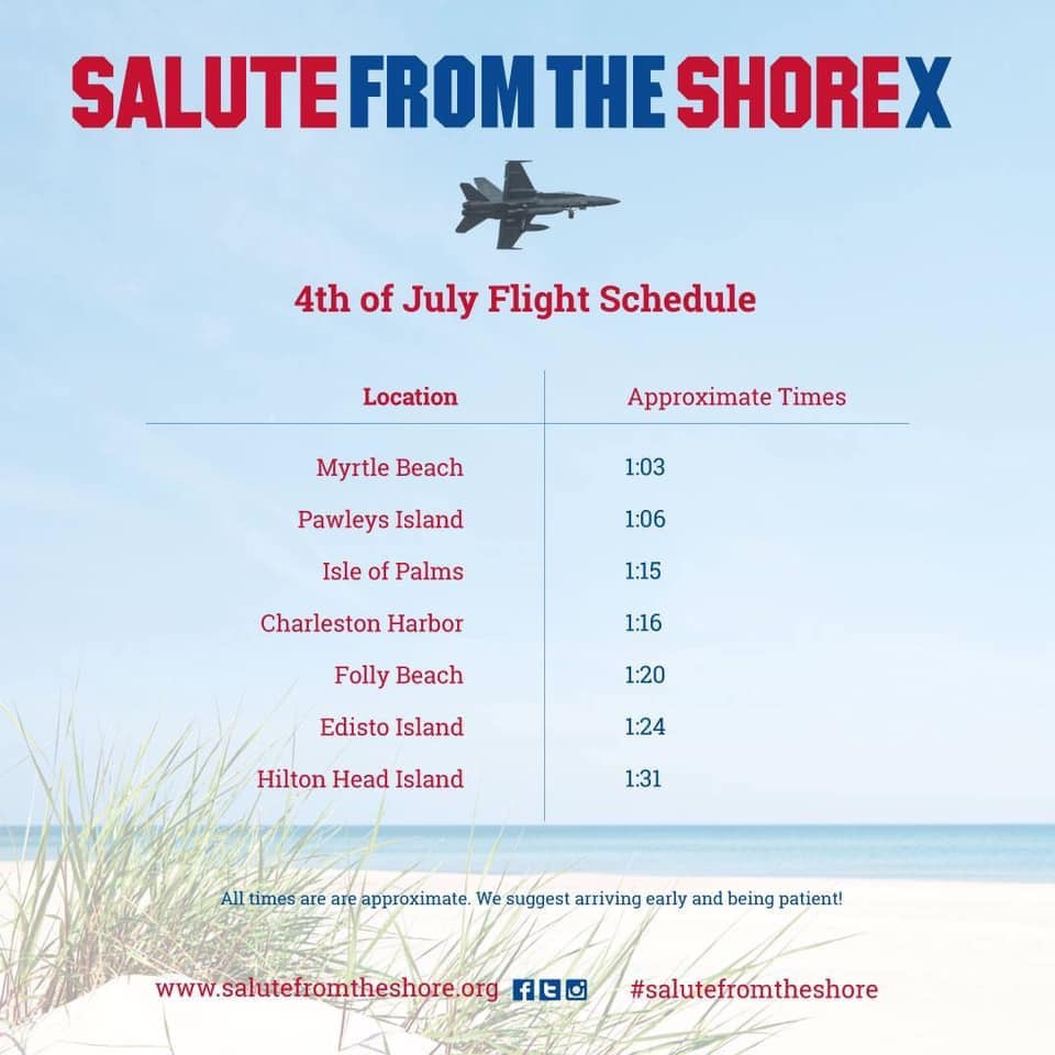 Salute from the Shore Schedule 2019