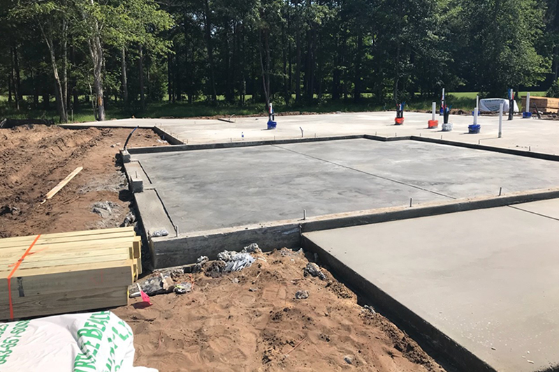 Foundation poured for Custom Home