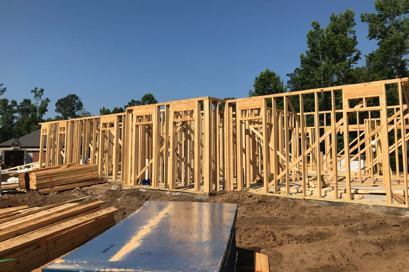 Framing of Custom home in Conway Golf Community