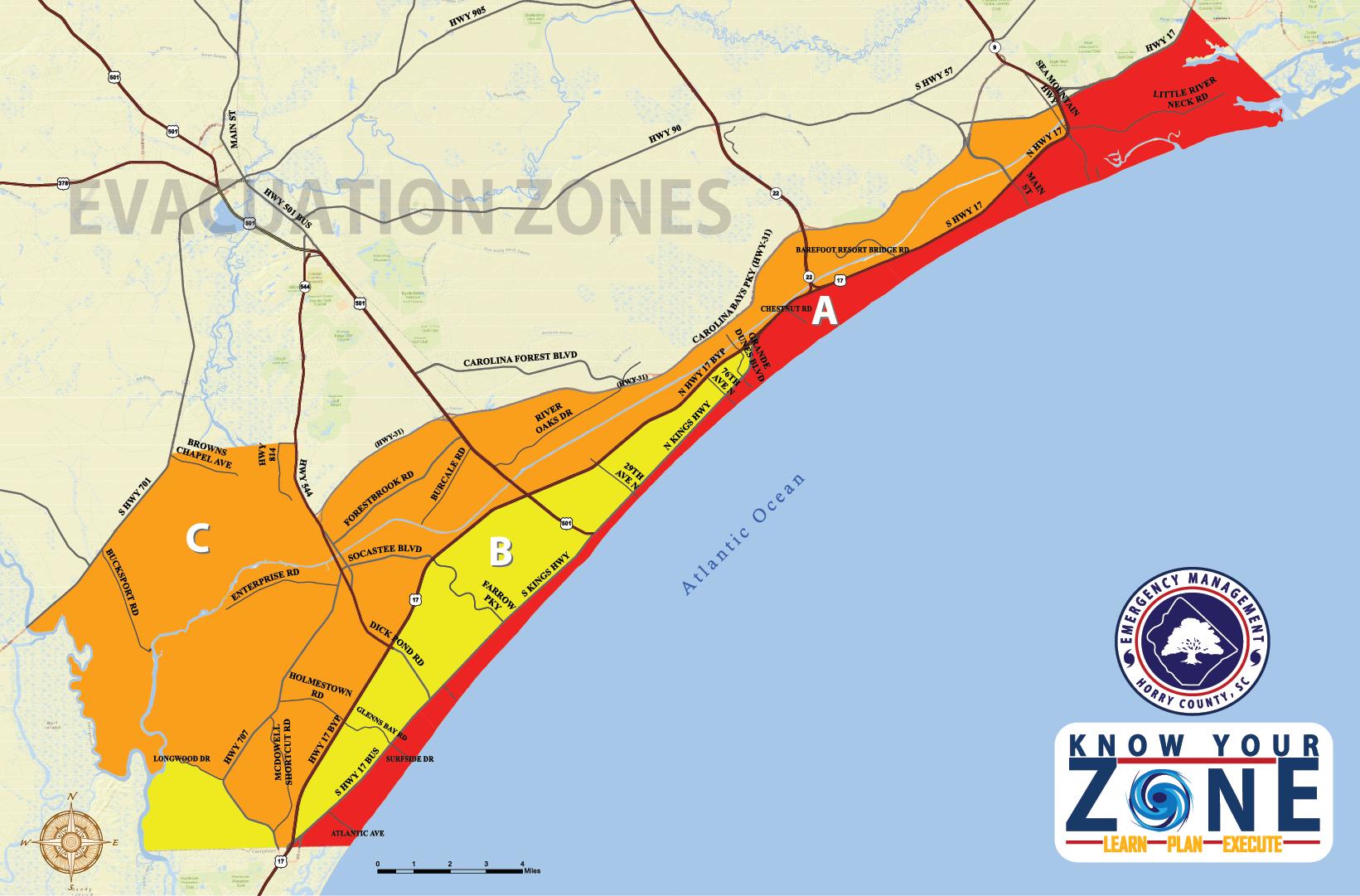 Horry county evacuation zones