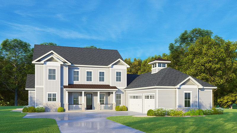 White farmhouse style custom home