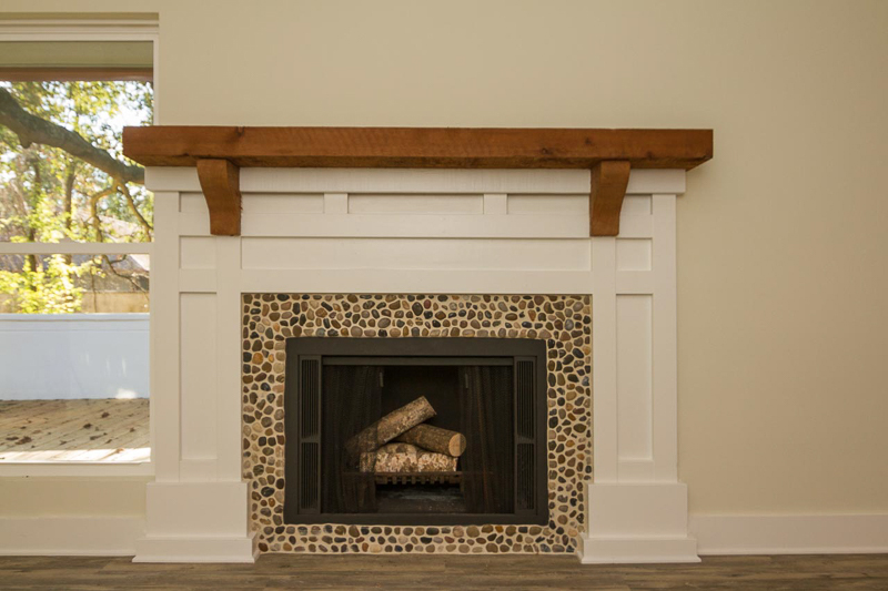 After photo of fireplace in home remodel