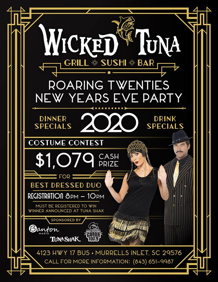 Wicked Tunas New Years Eve Bash Roaring Twenties Costume Party 2019
