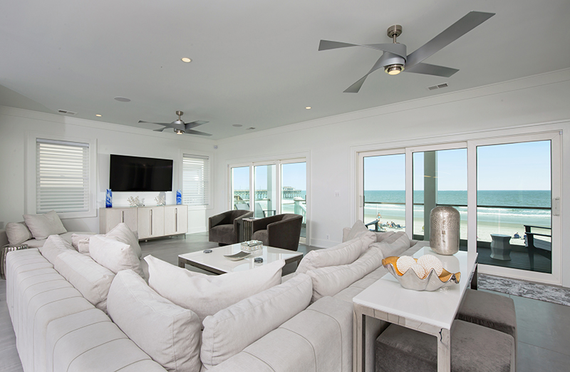 Interior Living Space with Views of Ocean