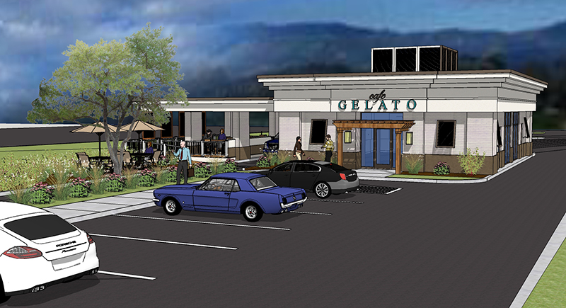 Rendering of Cafe Gelato New Restaurant in Myrtle Beach