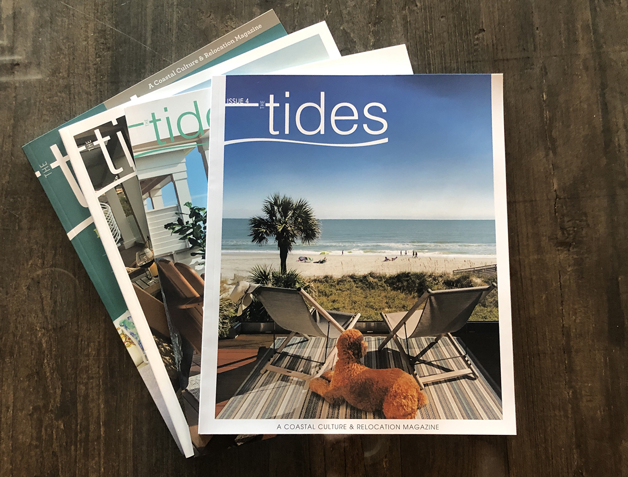 All four issues of The Tides Relocation Magazine