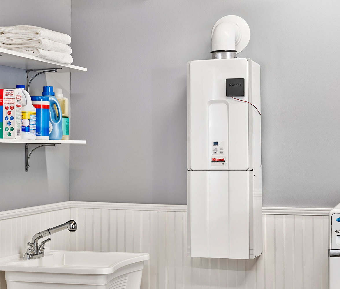 Rinnai Tankless Water Heater saves space and money